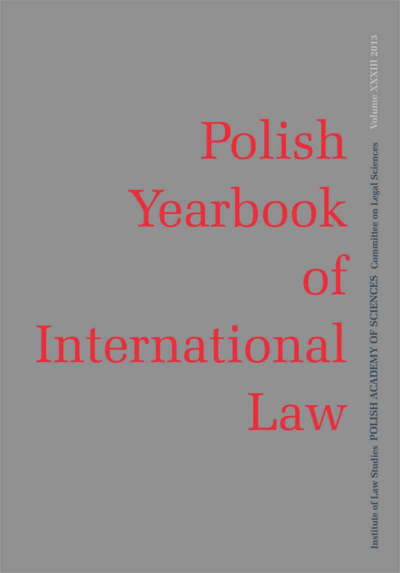 Polish Yearbook of International Law Cover Image