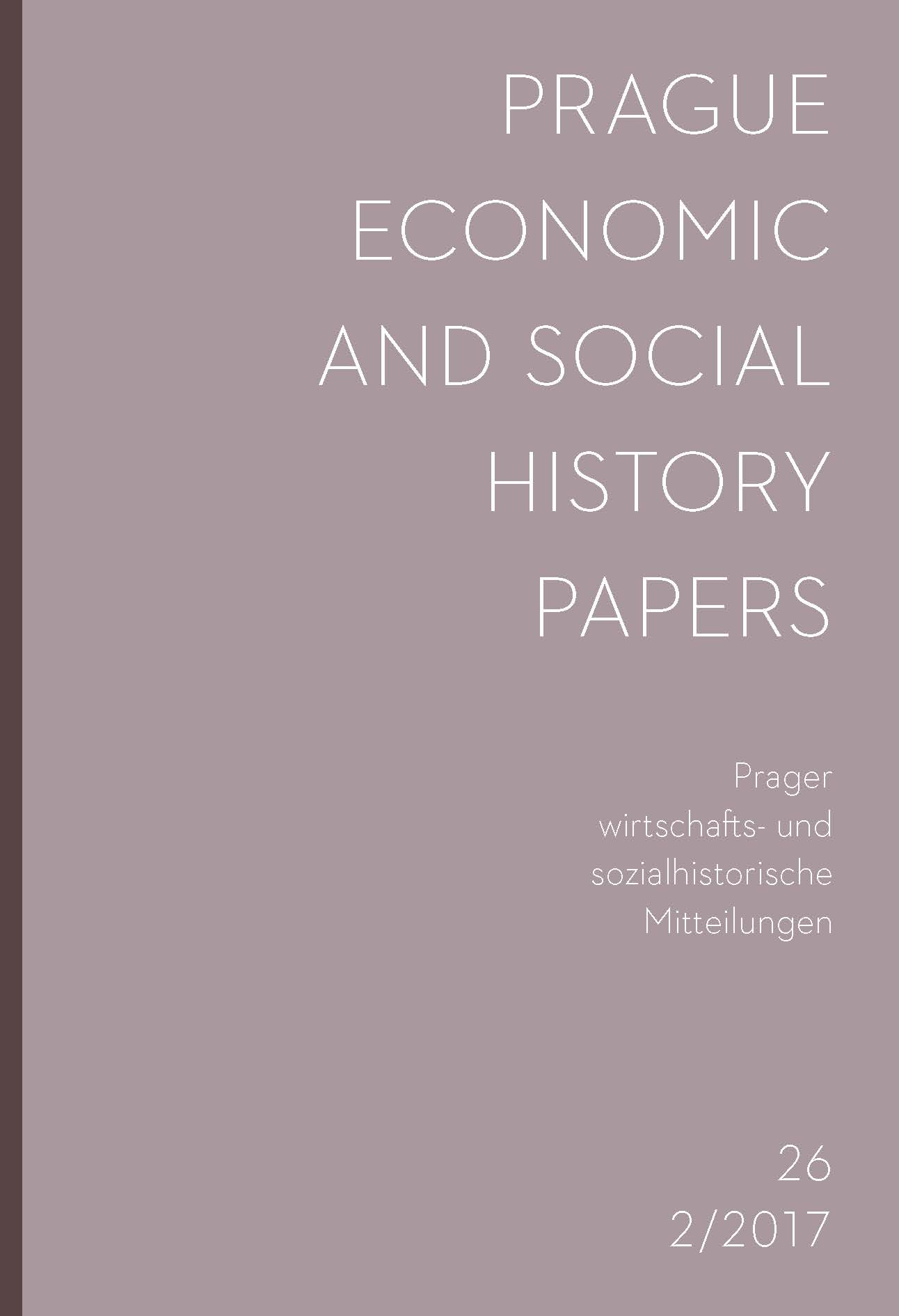 Prague Economic and Social History Papers Cover Image