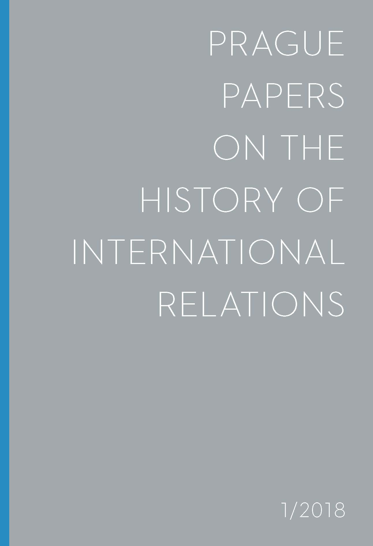 Prague Papers on the History of International Relations Cover Image