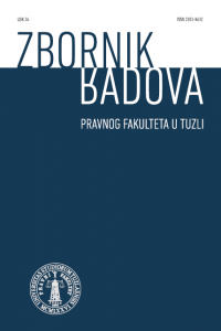 Proceedings of the Faculty of Law in Tuzla Cover Image