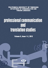 Professional Communication and Translation Studies Cover Image
