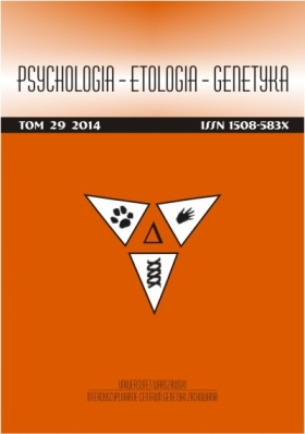 Psychology-Ethology-Genetics  Cover Image