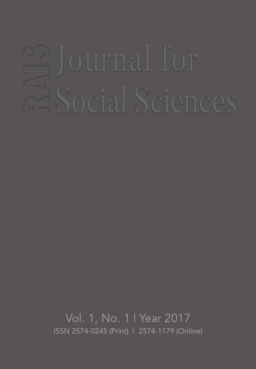 RAIS Journal for Social Sciences Cover Image