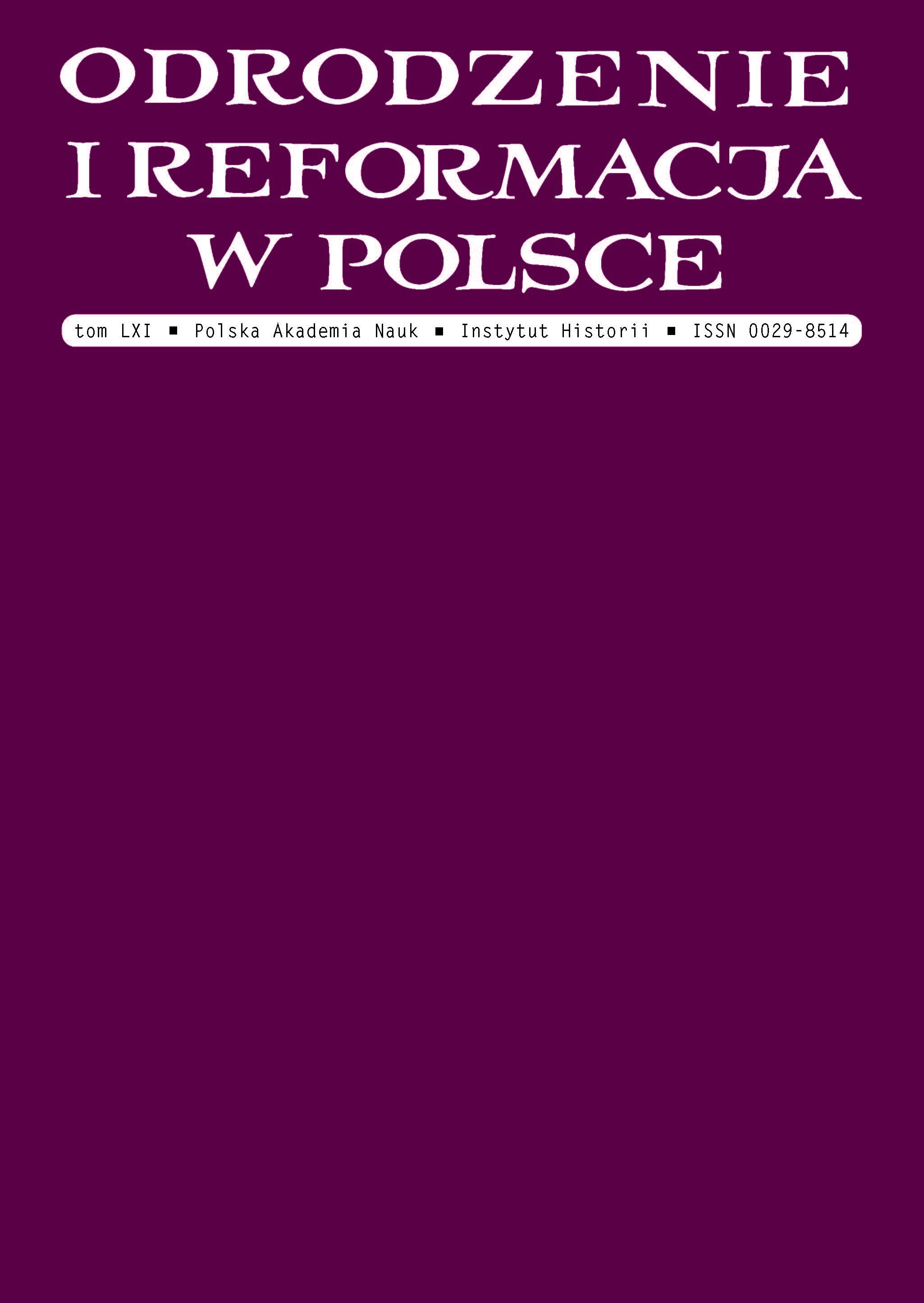 Renaissance and Reformation in Poland Cover Image