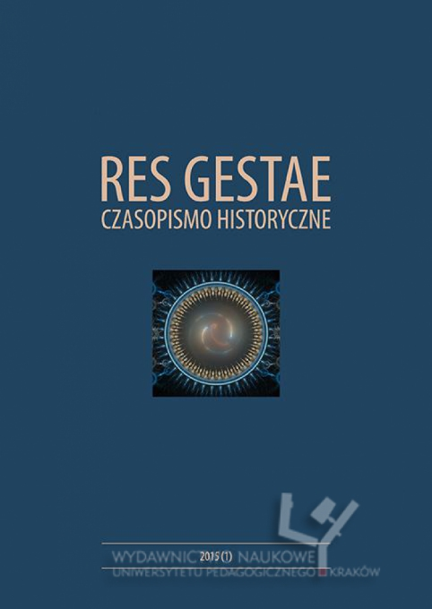 Res Gestae. Historical Journal. Cover Image