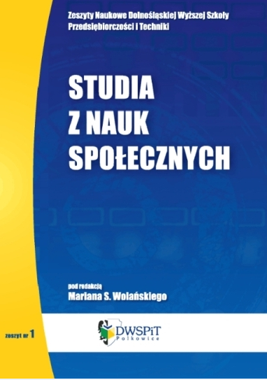 Research Bulletin the Lower Silesian University of Entrepreneurship and Technology in Social Sciences Cover Image