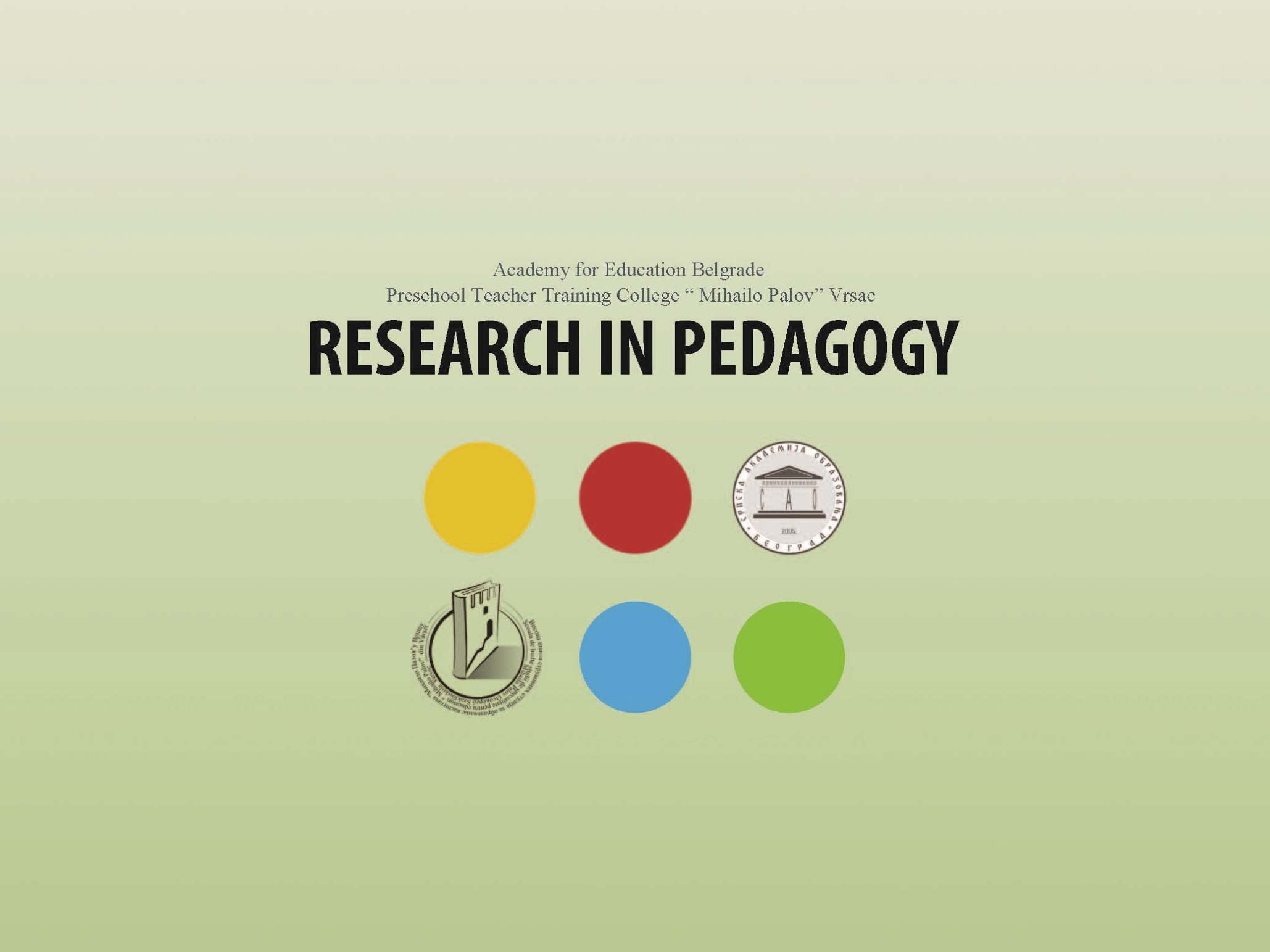 Research in Pedagogy Cover Image