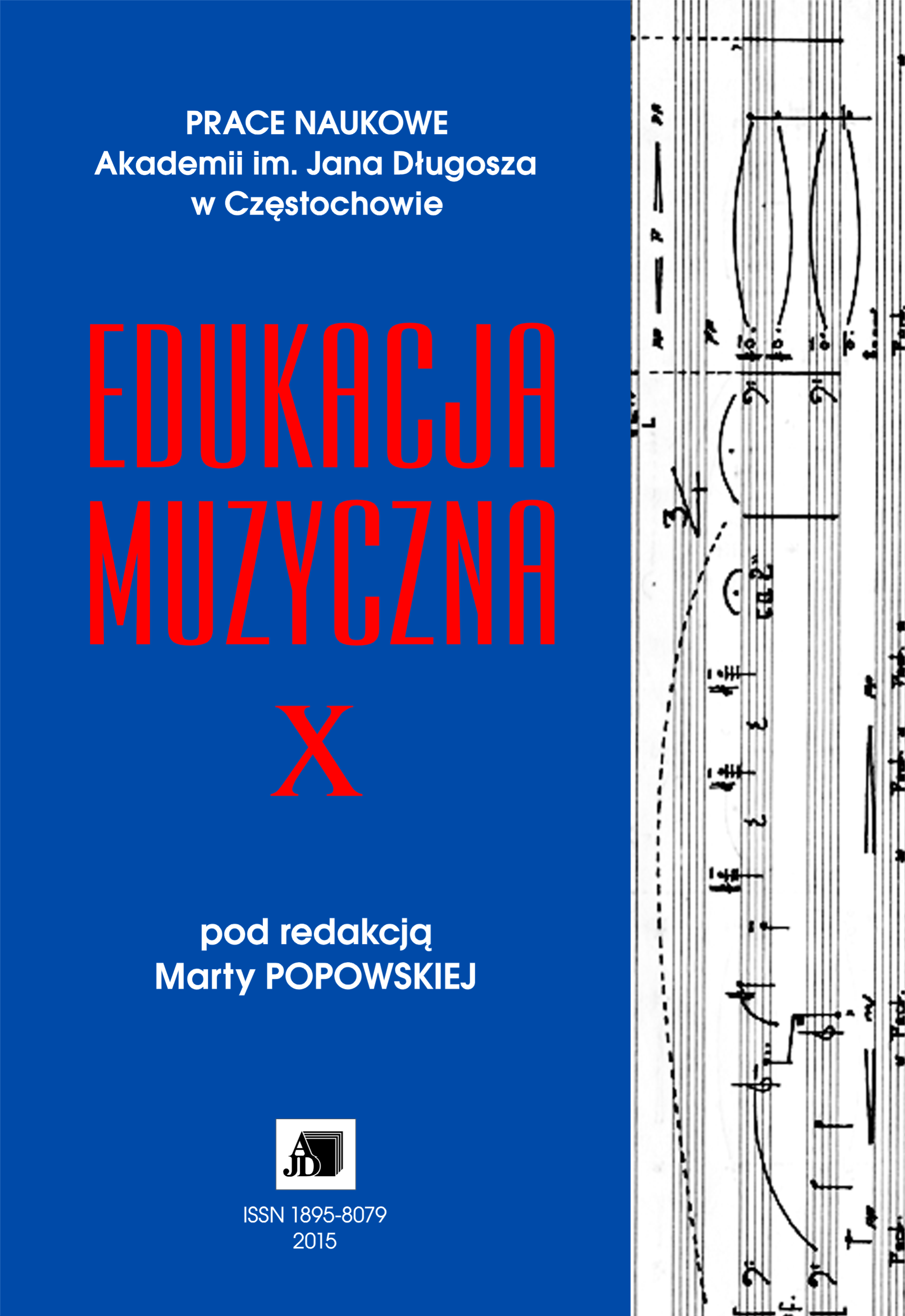 Research Papers of the Jan Dlugosz University in Częstochowa. Musical Education Cover Image