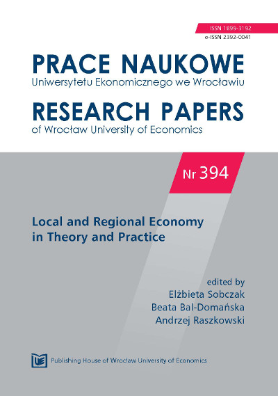 Research Papers of Wrocław University of Economics Cover Image