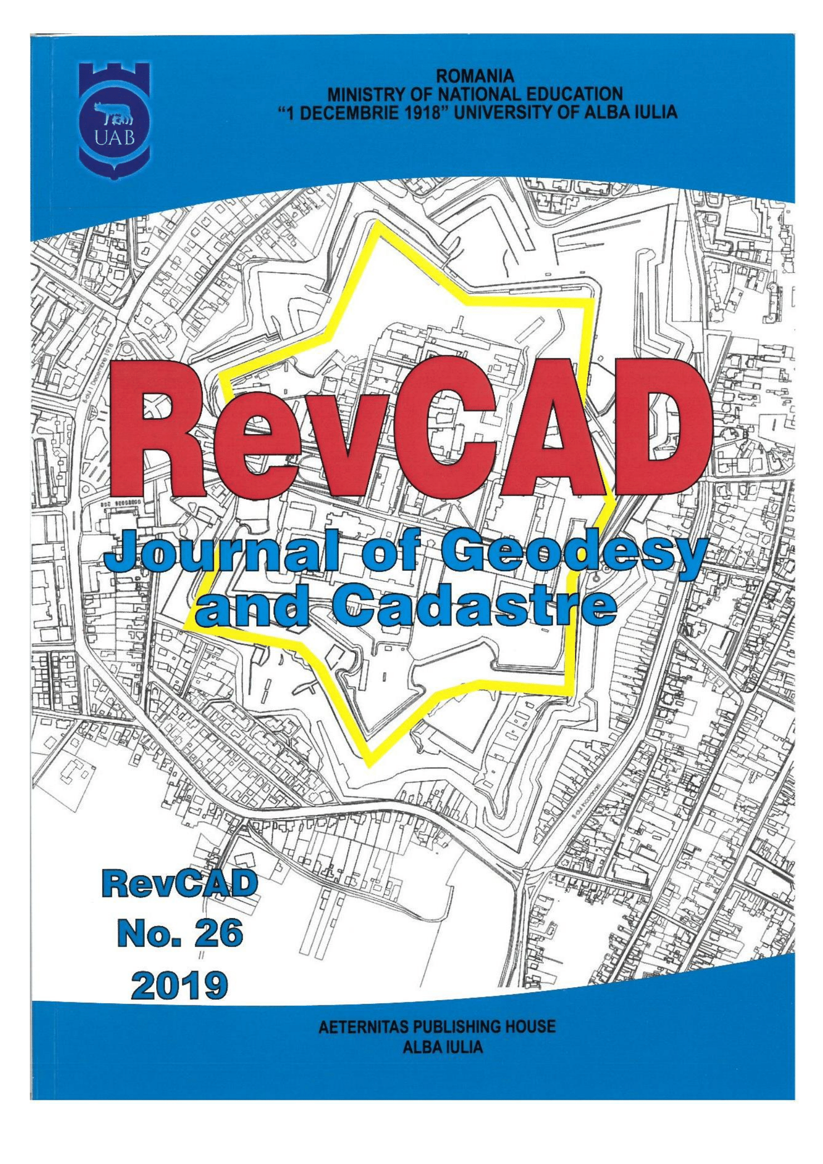RevCAD Journal of Geodesy and Cadastre Cover Image