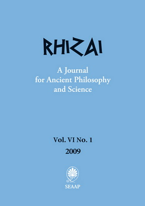Rhizai. A Journal for Ancient Philosophy and Science