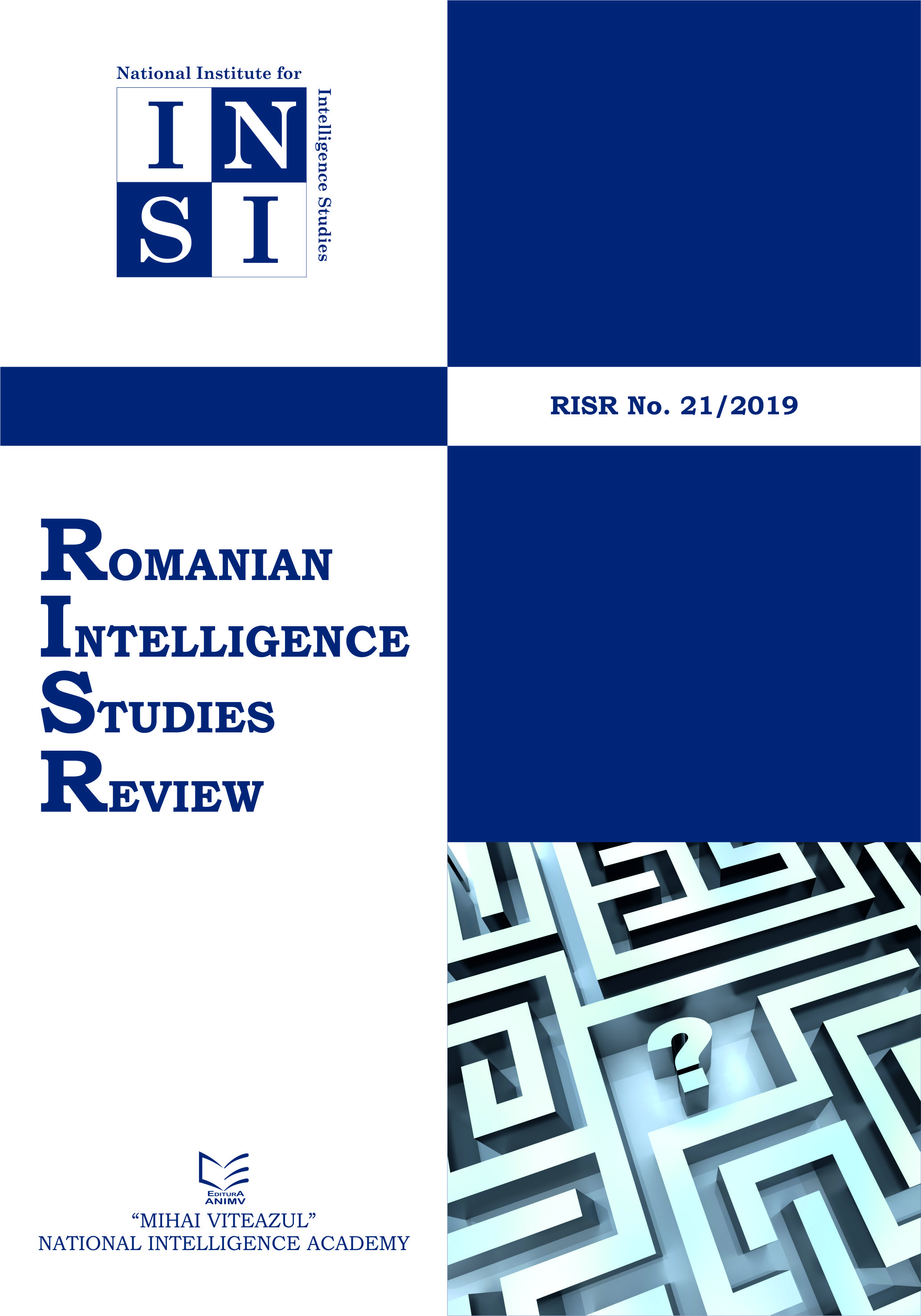 Romanian Intelligence Studies Review Cover Image