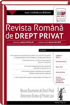 Romanian Review of Private Law Cover Image