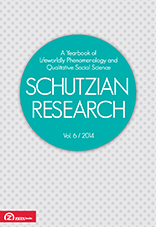 Schutzian Research.  A Yearbook of Lifeworldly Phenomenology and Qualitative Social Science  Cover Image