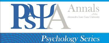 Scientific Annals of Alexandru Ioan Cuza University of Iasi - Psychology  Cover Image