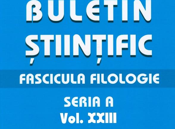 Scientific Bulletin, A Series, Philology Fascicle Cover Image