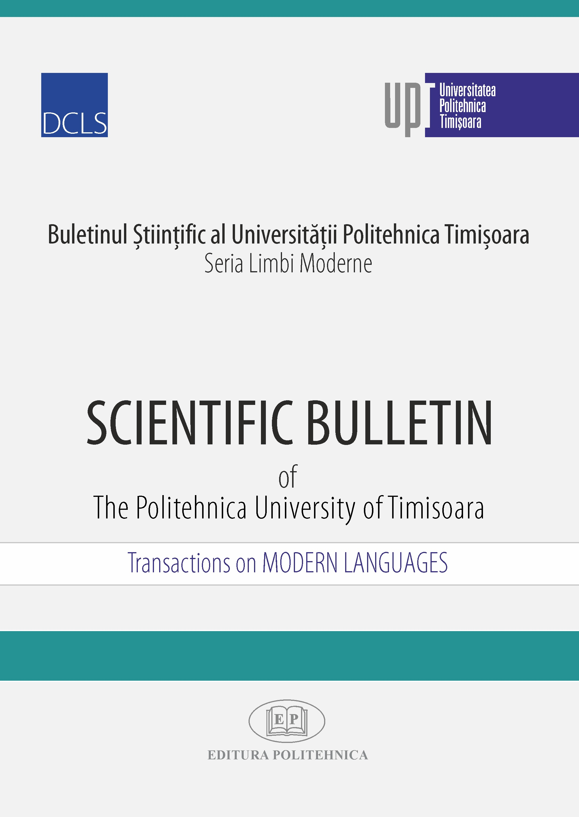 Scientific Bulletin of the Politehnica University of Timisoara, Transactions on Modern languages Cover Image