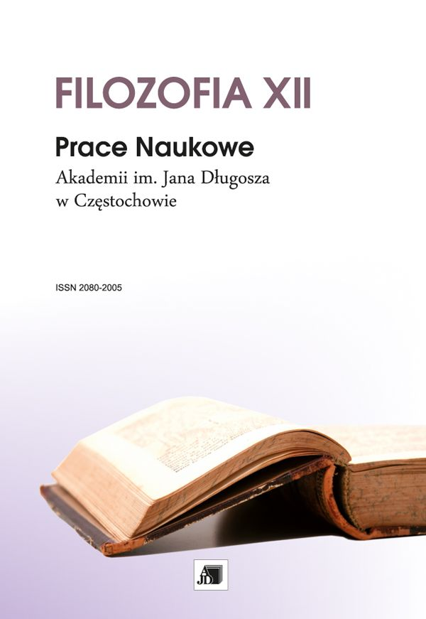 Research Papers of the Jan Dlugosz University in Częstochowa. Philosophy Cover Image