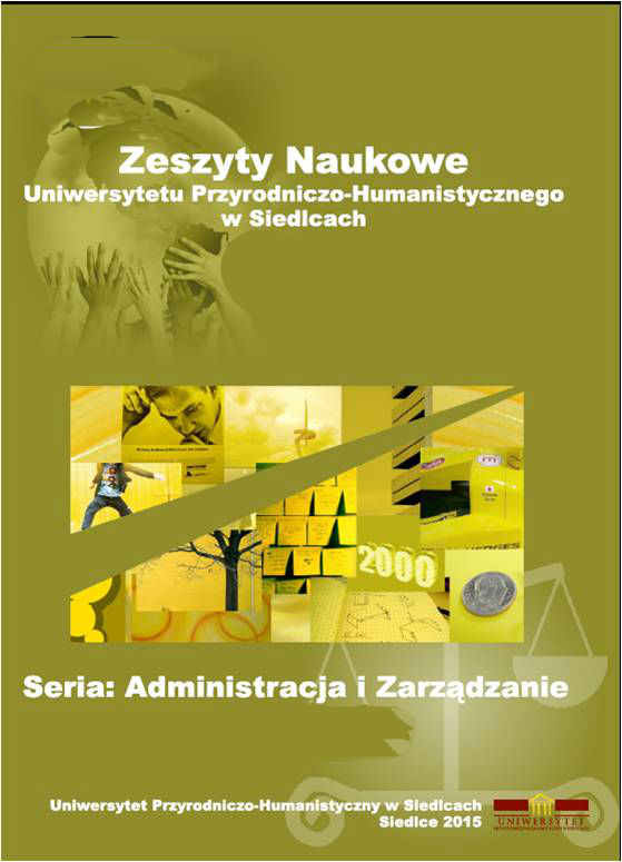 Scientific Journal of University of Natural Sciences and Humanities in Siedlce Series: Administration and Management Cover Image