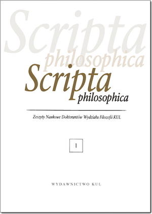 Scripta Philosophica. Research Bulletin of Doctoral Students of the Philosophy Faculty at KUL Cover Image
