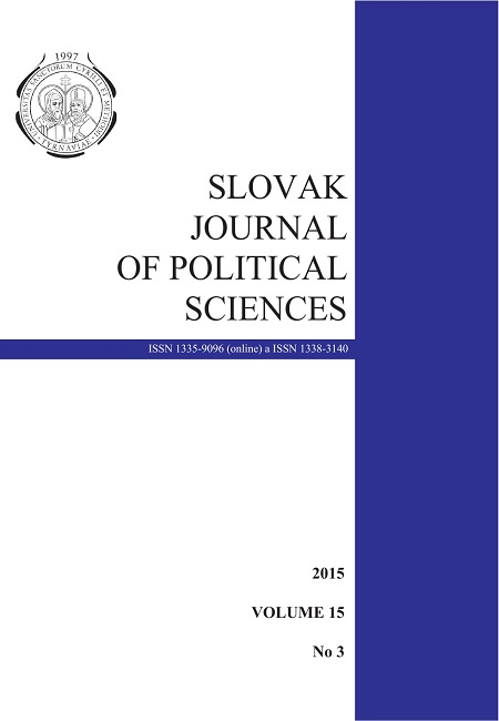 Slovak Journal of Political Science Cover Image