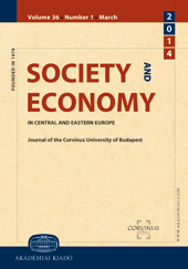 Society and Economy. In Central and Eastern Europe ǀ Journal of the Corvinus University of Budapest Cover Image