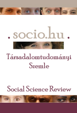 Socio.hu Social Science Review Cover Image