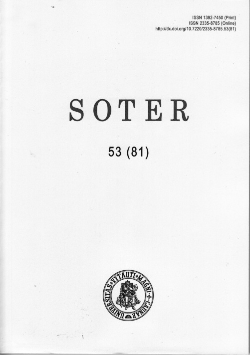 SOTER:  Journal of Religious Science Cover Image