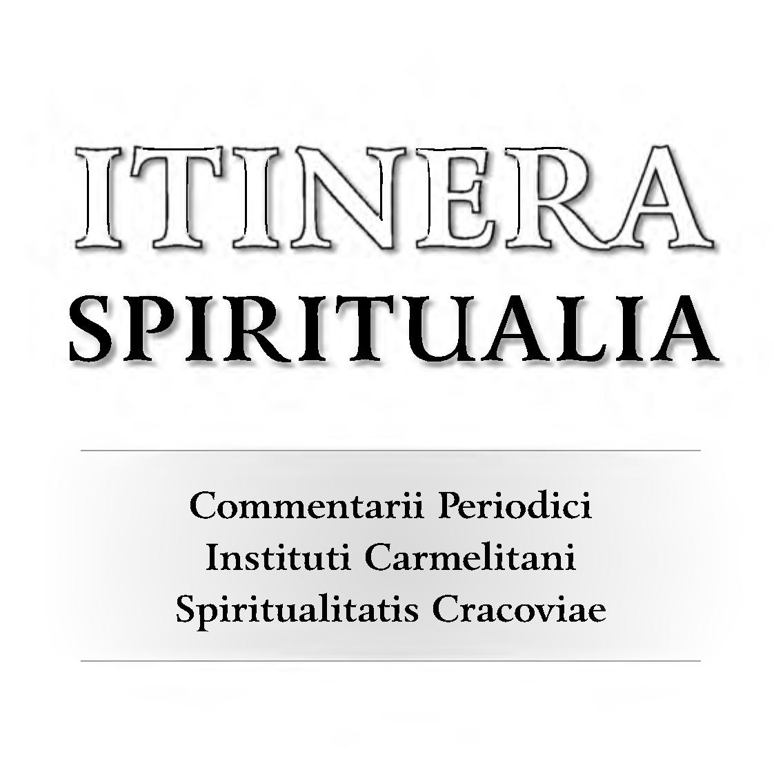Spiritual Paths. Journal of the Carmelite Institute of Spirituality in Kraków Cover Image