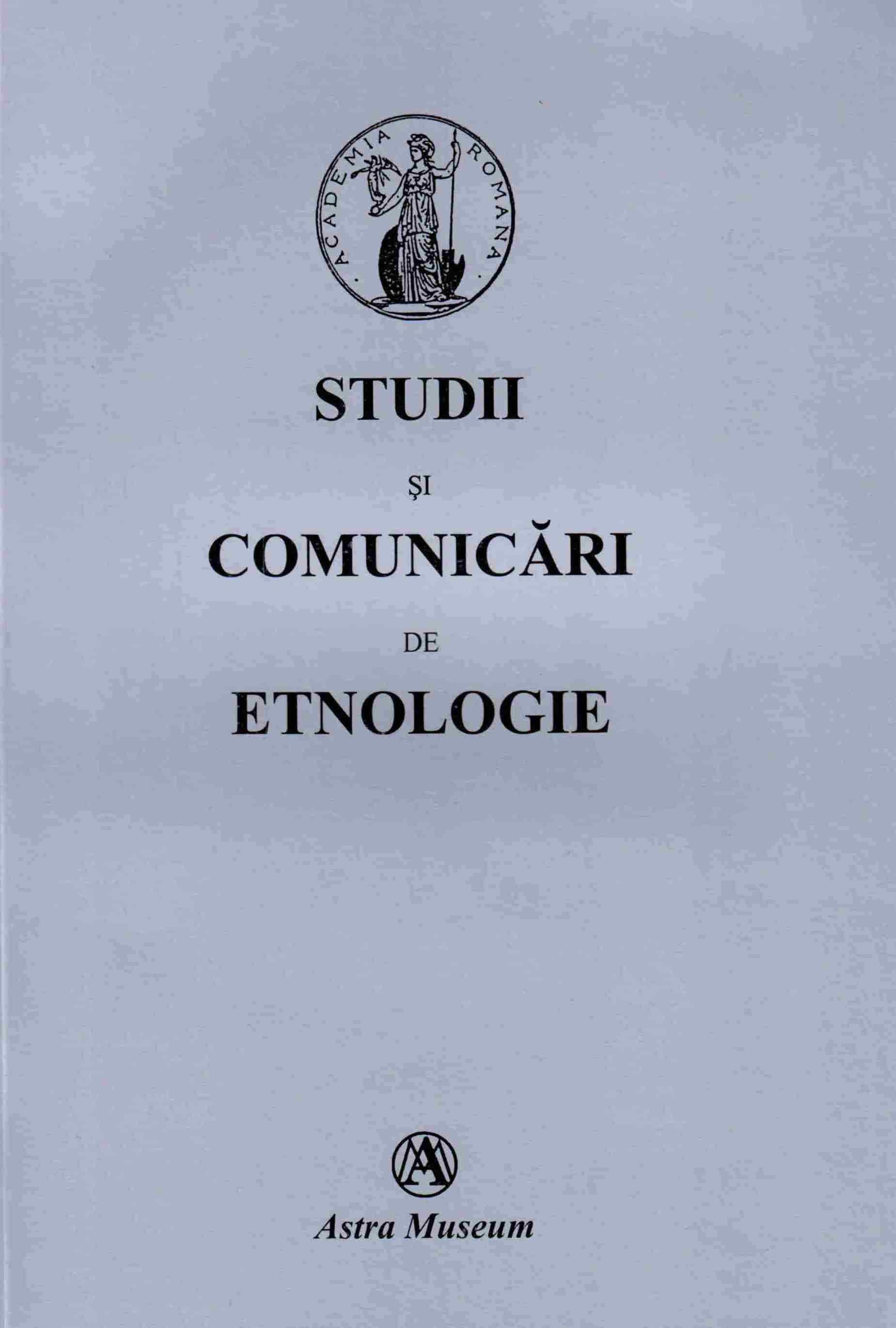 STUDIES AND COMMUNICATIONS OF ETHNOLOGY Cover Image