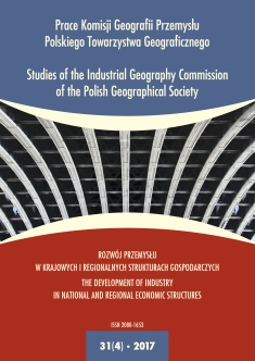 Studies of the Industrial Geography Commission of the Polish Geographical Society Cover Image