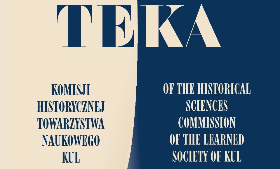 Teka of the Historical Sciences Commission of the Learned Society of KUL Cover Image