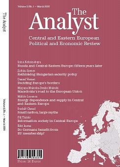 The Analyst - Central and Eastern European Review - English Edition Cover Image