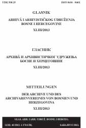 The Herald of Archives and the Archival Association of Bosnia and Herzegovina Cover Image