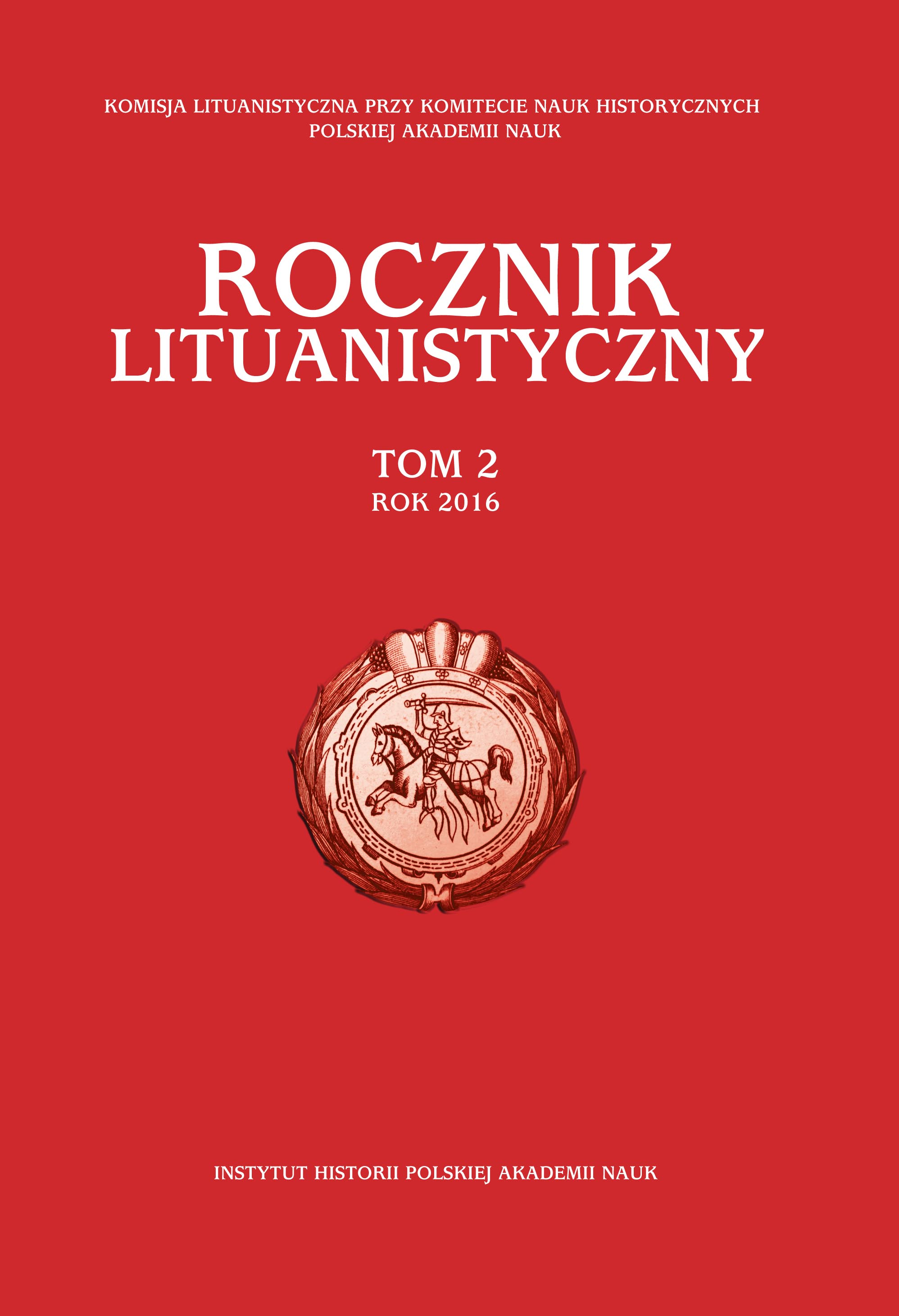 The Lithuanistica Annual Cover Image