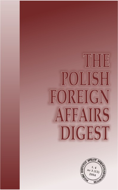 The Polish Foreign Affairs Digest Cover Image
