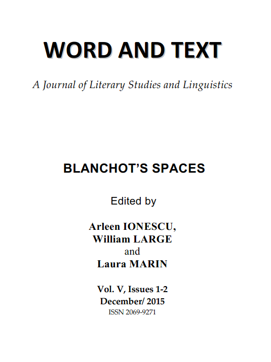 Word and Text, A Journal of Literary Studies and Linguistics Cover Image