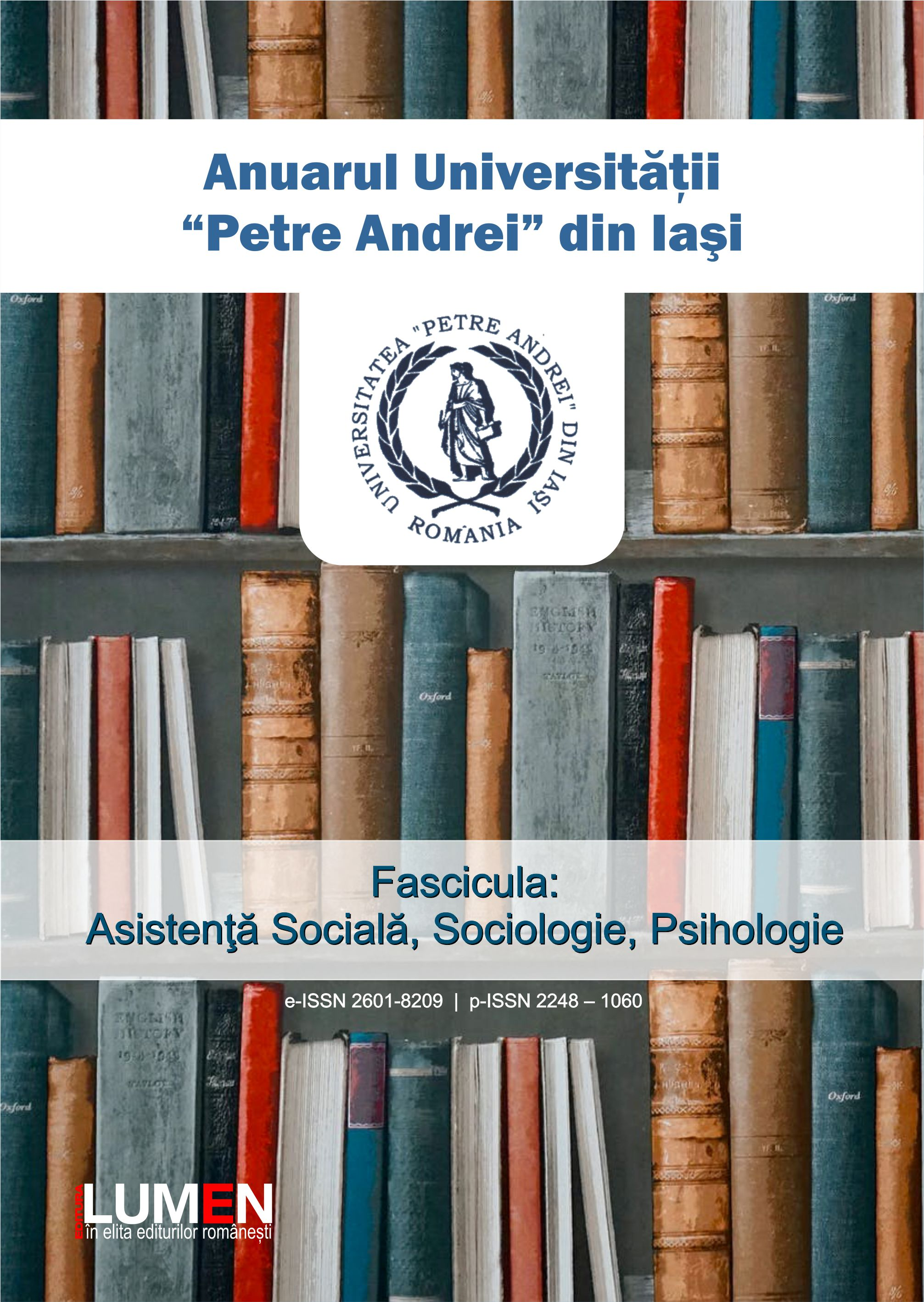 Yearbook of Petre Andrei University Iasi - series Social Work, Sociology, Psychology Cover Image