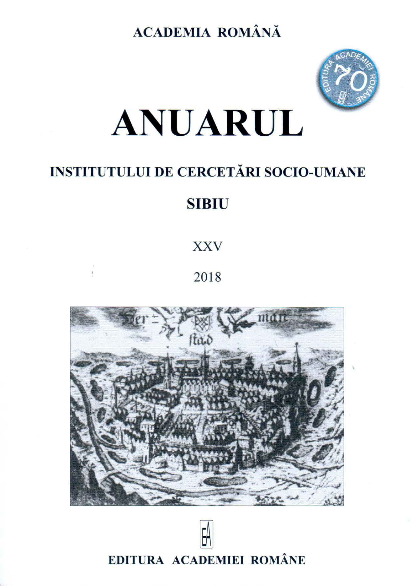 Yearbook of the Institute of Social Sciences and Humanities Sibiu Cover Image