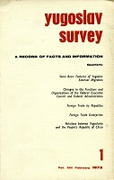 Yugoslav Survey. A Record of Facts and Information